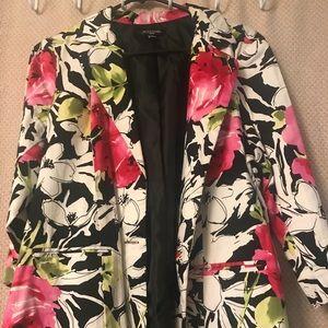 Notations Floral Lined Jacket Blazer Size XLP